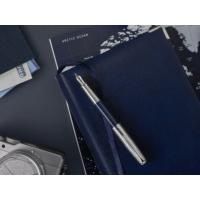 Kép 5/5 - Parker Royal Sonnet Töltőtoll Special Edition Atlas Blue/Silver 18 Karátos arany