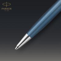 Kép 6/7 - Parker Royal Sonnet Premium Golyóstoll Metal Blue Króm klipsz