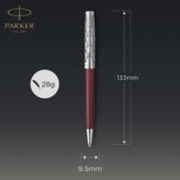 Kép 5/7 - Parker Royal Sonnet Premium Golyóstoll Metal Red Króm klipsz