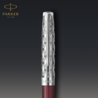 Kép 7/7 - Parker Royal Sonnet Premium Golyóstoll Metal Red Króm klipsz