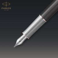 Kép 8/9 - Parker Royal Sonnet Premium Töltőtoll Metal Grey Arany-rózsaszín klipsz 18 Karátos arany F-es hegy