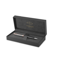 Kép 3/8 - Parker Royal Sonnet Premium Golyóstoll Metal Grey Arany-rózsaszín klipsz