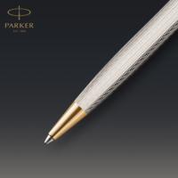 Kép 6/7 - Parker Royal Sonnet Deluxe Golyóstoll 925 Ezüst Mistral, Arany Klipsz