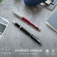 Kép 7/7 - Parker Royal Urban Twist Golyóstoll Muted Black Króm klipsz