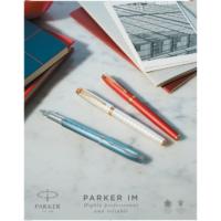Kép 5/5 - Parker Royal IM Premium Töltőtoll Blue Grey Króm klipsz