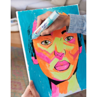 Kép 11/16 - Edding 5000 Akril marker B 5-10 mm Neon orange