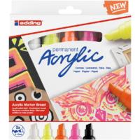 Kép 1/4 - Edding 5000 Akril marker 5 db-os készlet B 5-10 mm Neon színek