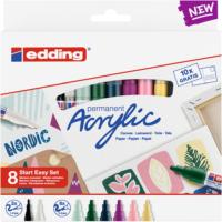 Kép 1/3 - Edding Akril marker Start easy 8 db-os szett