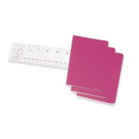 """Kép 3/5 - Moleskine Jegyzetfüzet Cahier 3db Élénk Pink """"P"""" Méret Vonalas"""