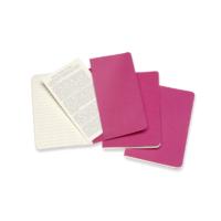 """Kép 4/5 - Moleskine Jegyzetfüzet Cahier 3db Élénk Pink """"P"""" Méret Vonalas"""