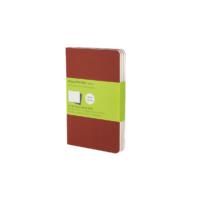 Kép 1/3 - Moleskine Jegyzetfüzet Cahier 3db Piros