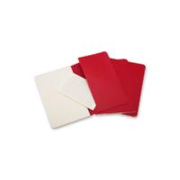 """Kép 3/6 - Moleskine Jegyzetfüzet Cahier 3db Piros """"L"""" Méret Vonalas"""