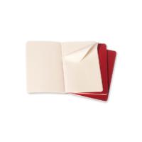 """Kép 4/6 - Moleskine Jegyzetfüzet Cahier 3db Piros """"L"""" Méret Vonalas"""
