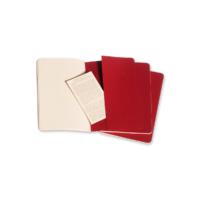 """Kép 6/6 - Moleskine Jegyzetfüzet Cahier 3db Piros """"L"""" Méret Vonalas"""