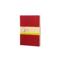 Kép 1/5 - Moleskine Jegyzetfüzet Cahier 3db Piros