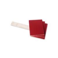 """Kép 3/5 - Moleskine Jegyzetfüzet Cahier 3db Piros """"XL"""" Méret Sima"""