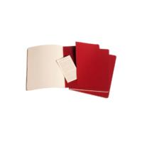 """Kép 4/5 - Moleskine Jegyzetfüzet Cahier 3db Piros """"XL"""" Méret Sima"""