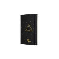 """Kép 2/7 - Moleskine Notesz Harry Potter 7/7 Kemény Fekete """"L"""" Méret Vonalas"""