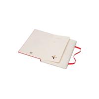 """Kép 3/6 - Moleskine Papertablet Kemény Piros """"L"""" Méret Pontozott"""