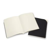 "Kép 3/4 - Moleskine Papertablet Cahier 2db Fekete ""XL"" Méret Sima"