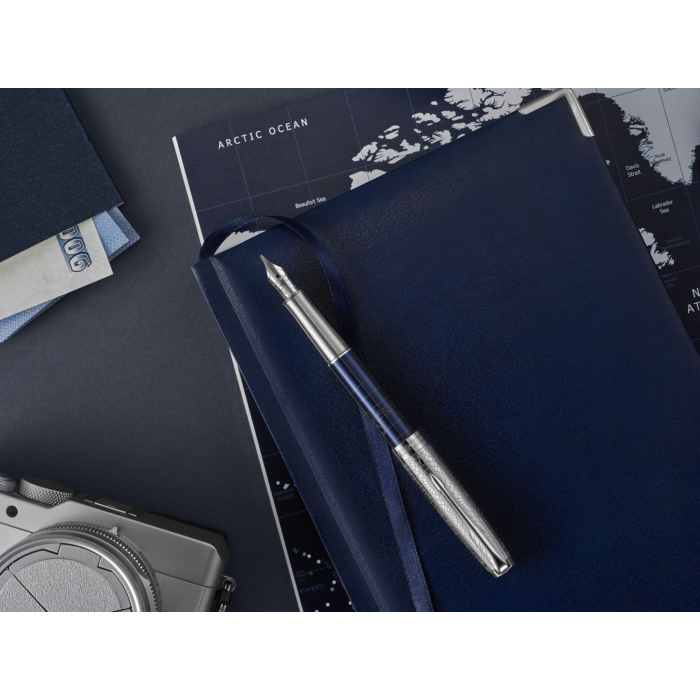 Parker Royal Sonnet Töltőtoll Special Edition Atlas Blue/Silver 18 Karátos arany