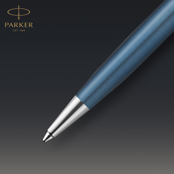 Parker Royal Sonnet Premium Golyóstoll Metal Blue Króm klipsz