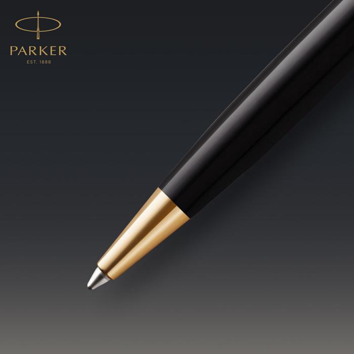 Parker Royal Sonnet Premium Golyóstoll Metal Black Arany klipsz
