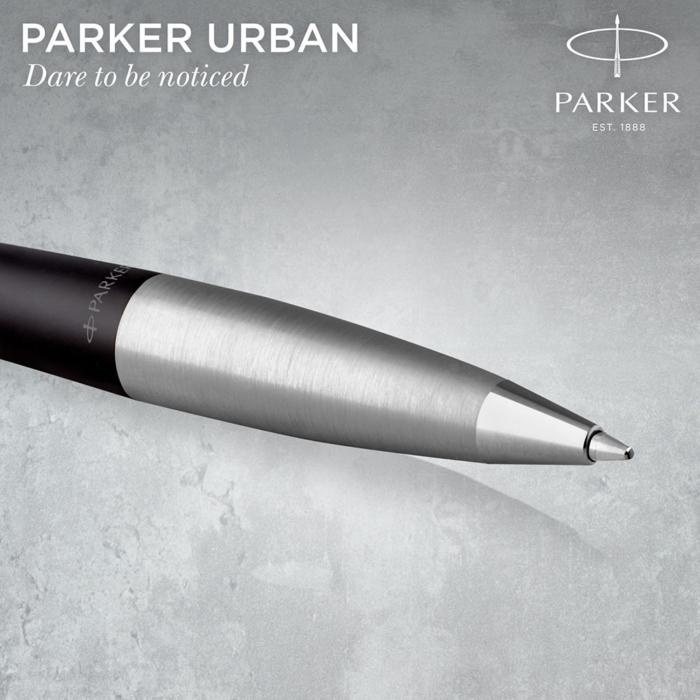 Parker Royal Urban Twist Golyóstoll Muted Black Króm klipsz