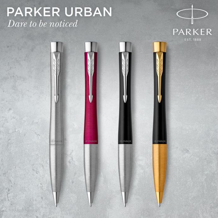 Parker Royal Urban Twist Golyóstoll Metro Metallic Króm klipsz