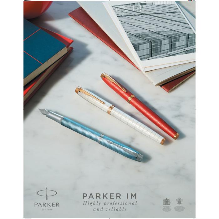 Parker Royal IM Premium Töltőtoll Blue Grey Króm klipsz