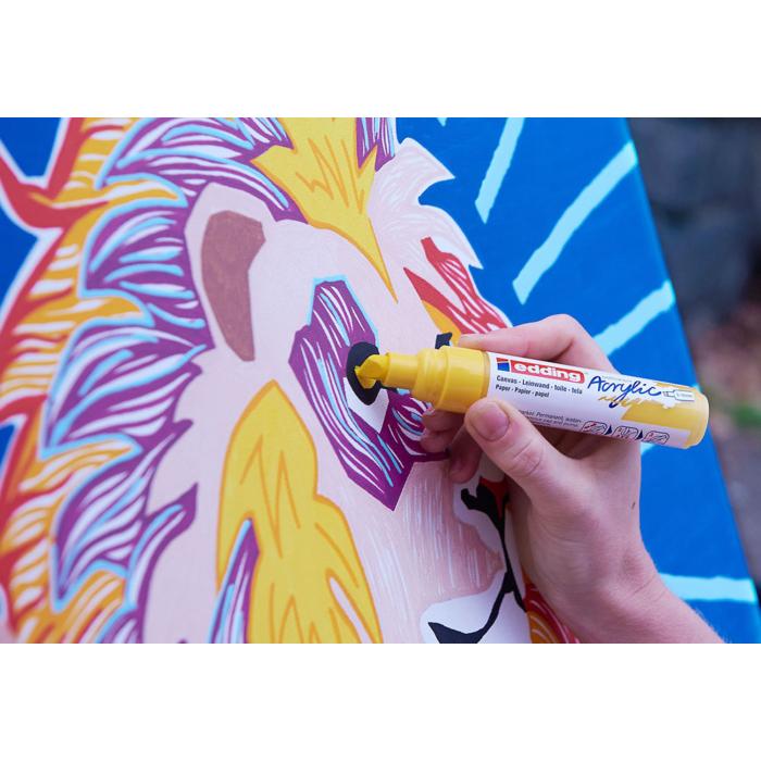 Edding 5000 Akril marker B 5-10 mm Neon orange