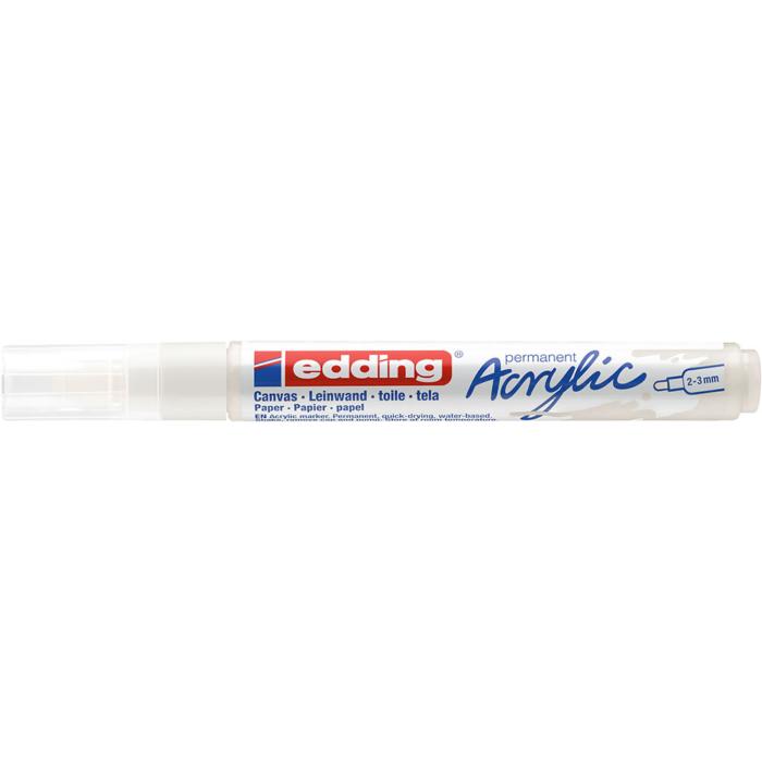 Edding 5100 Akril marker M 2-3 mm Traffic white