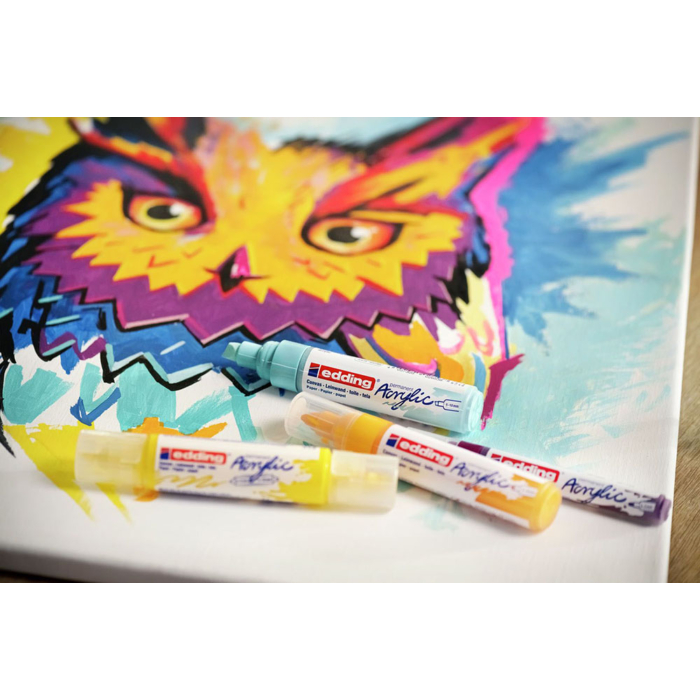 Edding 5400 Akril marker 3D Double liner 2-3 mm/5-10 mm Pastel yellow