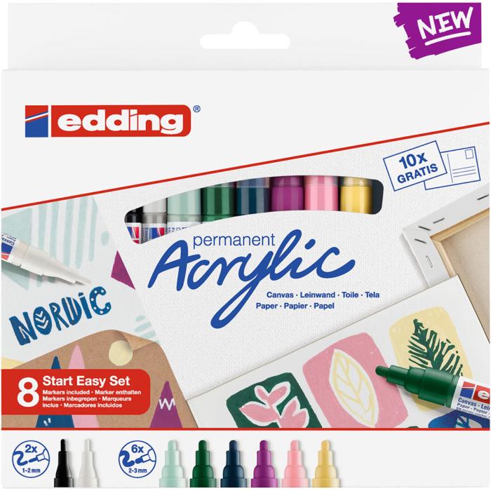 Edding Akril marker Start easy 8 db-os szett