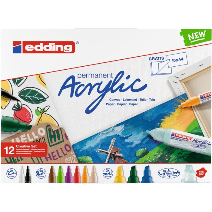 Edding Akril marker Creative 12 db-os szett