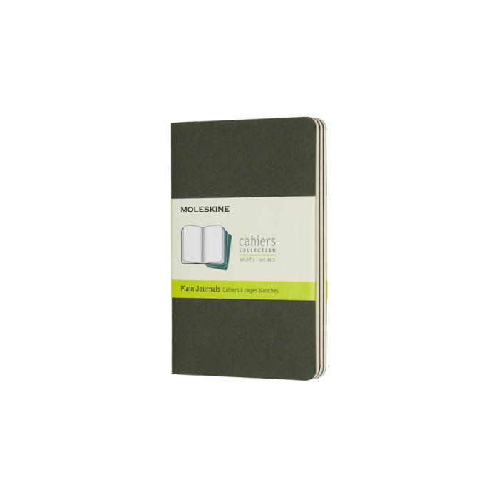 Moleskine Jegyzetfüzet Cahier 3db Mirtusz Zöld