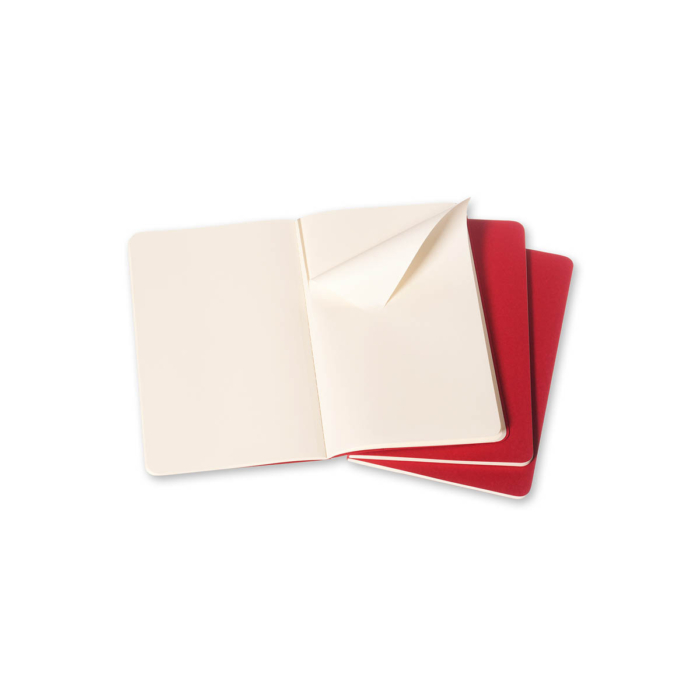 "Moleskine Jegyzetfüzet Cahier 3db Piros ""L"" Méret Sima"