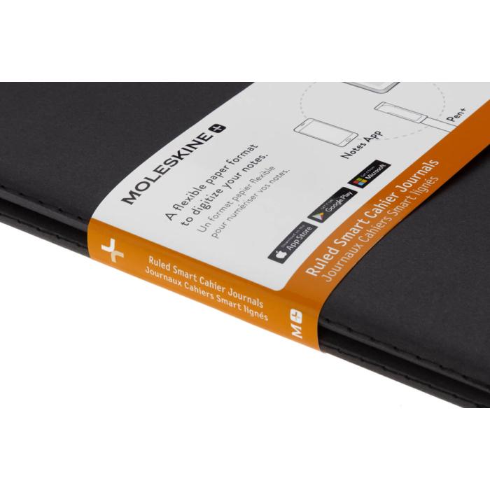"""Moleskine Papertablet Cahier 2db Fekete """"L"""" Méret Vonalas"""